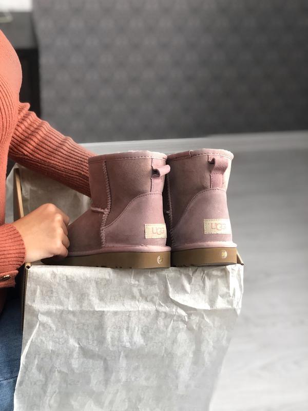 Шикарные женские сапоги угги ugg classic ii mini pink розовые ...