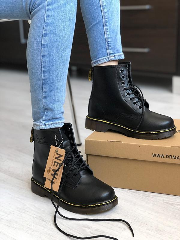 Шикарные мужские ботинки dr. martens 1460 black термо 😃{осень ...