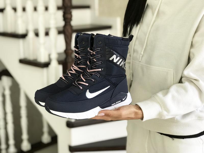 Шикарные женские ботинки дутики nike зимние высокие с мехом😃(з...