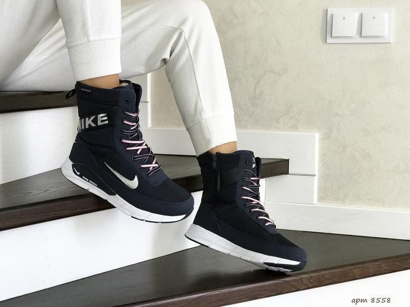 Шикарные женские ботинки дутики nike зимние высокие с мехом😃(з... - Фото 3