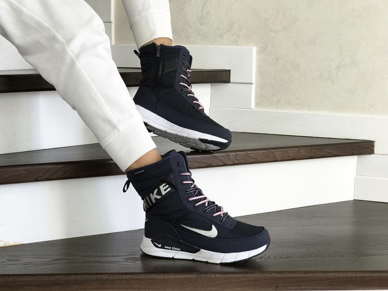 Шикарные женские ботинки дутики nike зимние высокие с мехом😃(з... - Фото 4