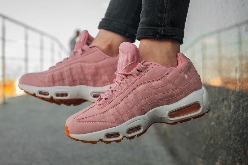 Шикарные женские кроссовки nike air max 95 pink розовые 😃 {вес...