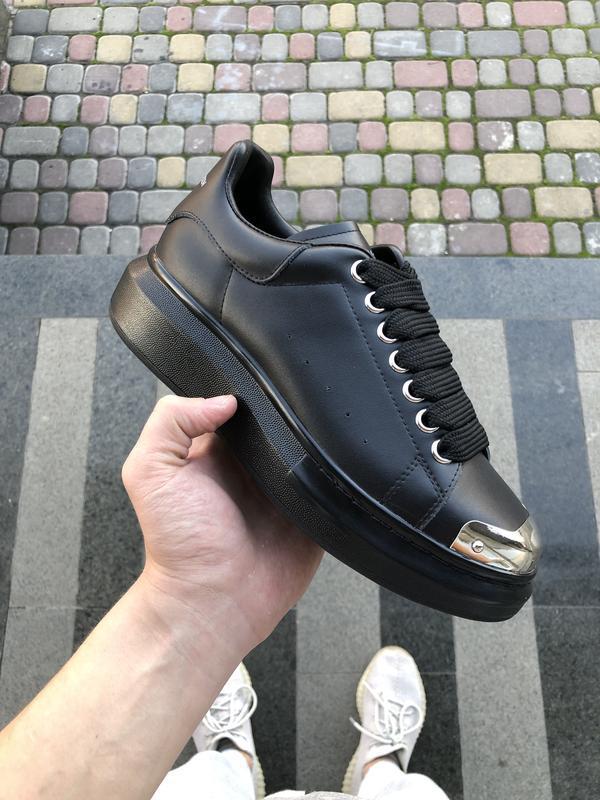 Шикарные женские кроссовки alexander mcqueen white чёрные 😃 {в...