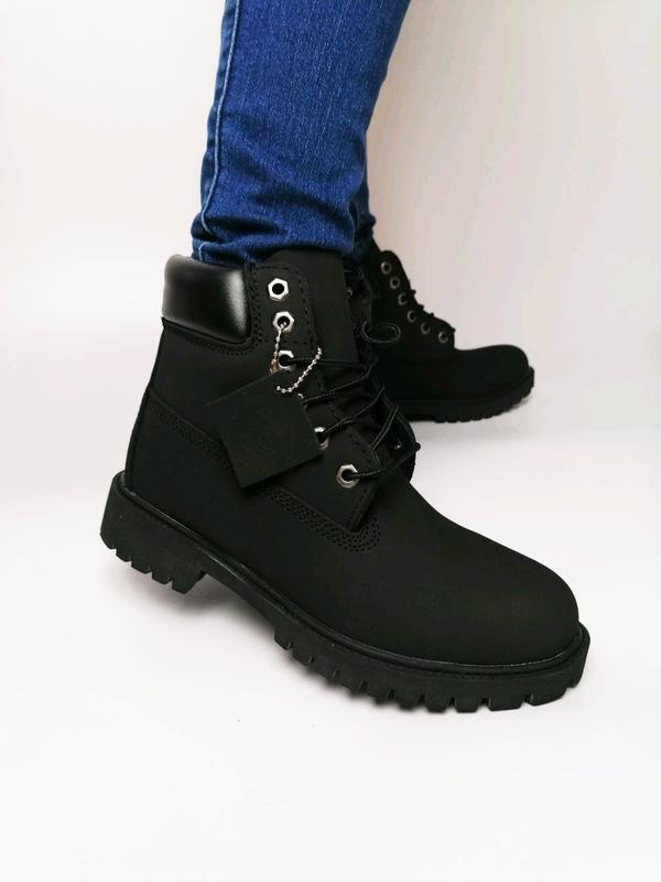 Шикарные женские ботинки timberland black чёрные 😃 (осень, евр...