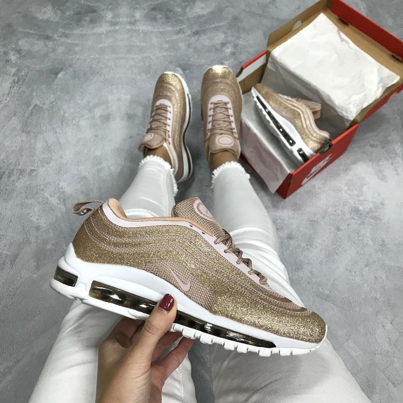Шикарные женские кроссовки nike air max 97 pink swarovski😃 {ве...