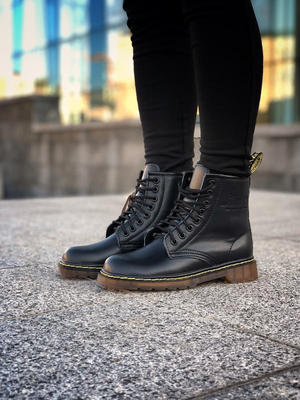 Шикарные женские ботинки dr. martens 1460 black чёрные 😃 (зима)