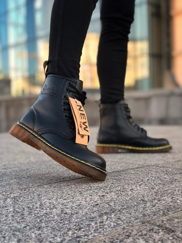 Шикарные женские ботинки dr. martens 1460 black чёрные 😃 (зима) - Фото 3