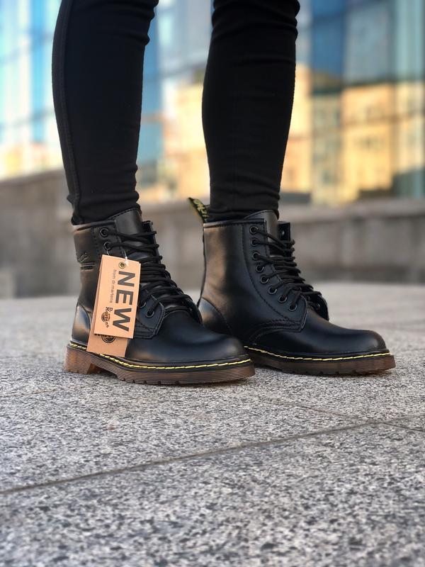 Шикарные женские ботинки dr. martens 1460 black чёрные 😃 (зима) - Фото 5