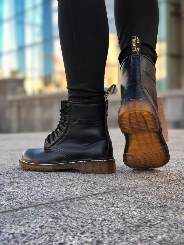 Шикарные женские ботинки dr. martens 1460 black чёрные 😃 (зима) - Фото 6