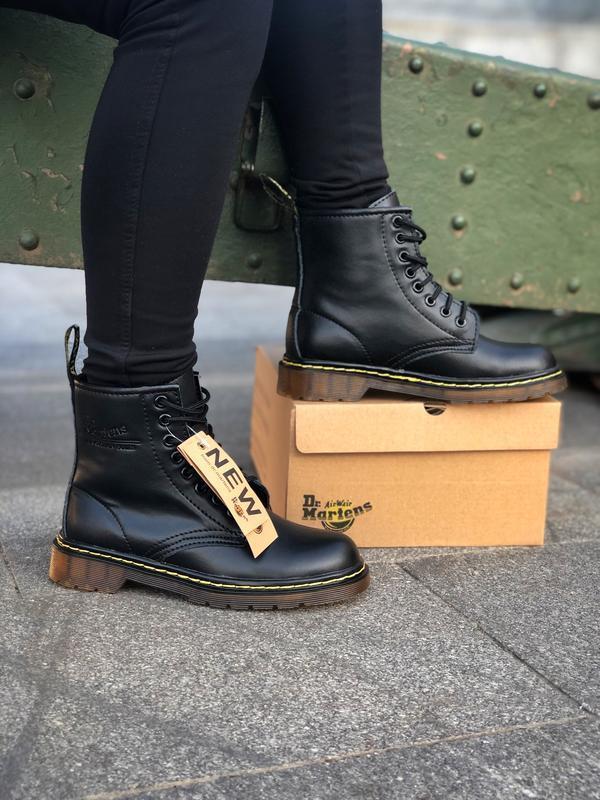 Шикарные женские ботинки dr. martens 1460 black чёрные 😃 (зима) - Фото 8