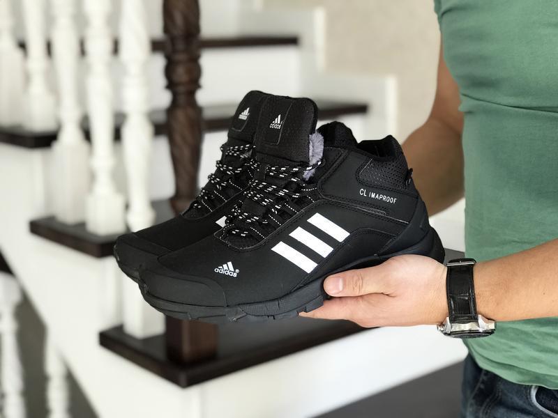 Шикарные мужские ботинки adidas climaproof black 😃 (зима)
