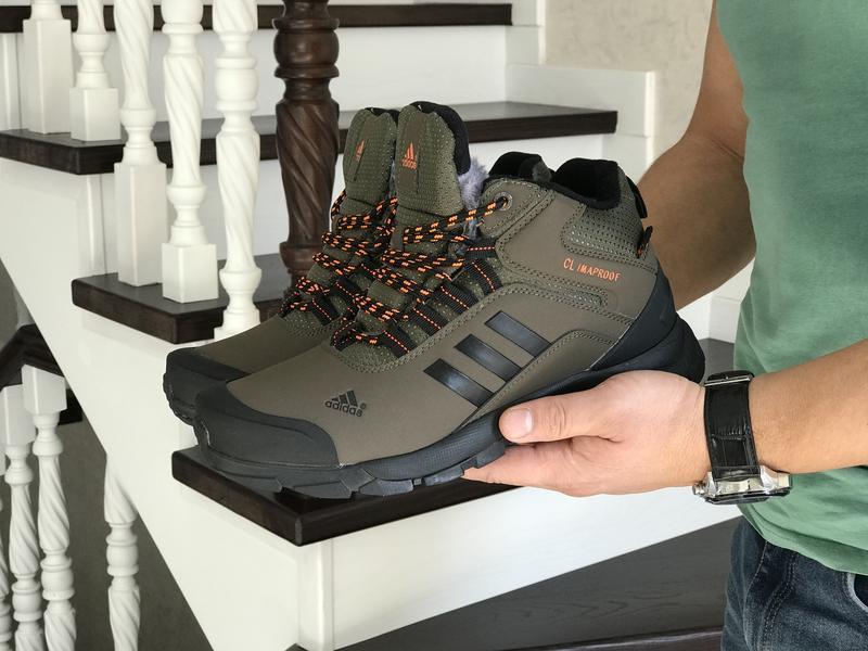 Шикарные мужские ботинки adidas climaproof khaki 😃 (зима)