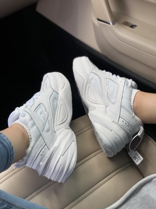 Шикарные женские кроссовки nike m2k tekno white белые 😃 (весна...