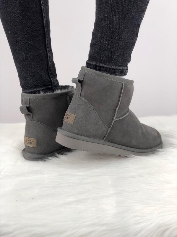 Шикарные женские сапоги угги ugg classic mini ii grey 😃(зима)