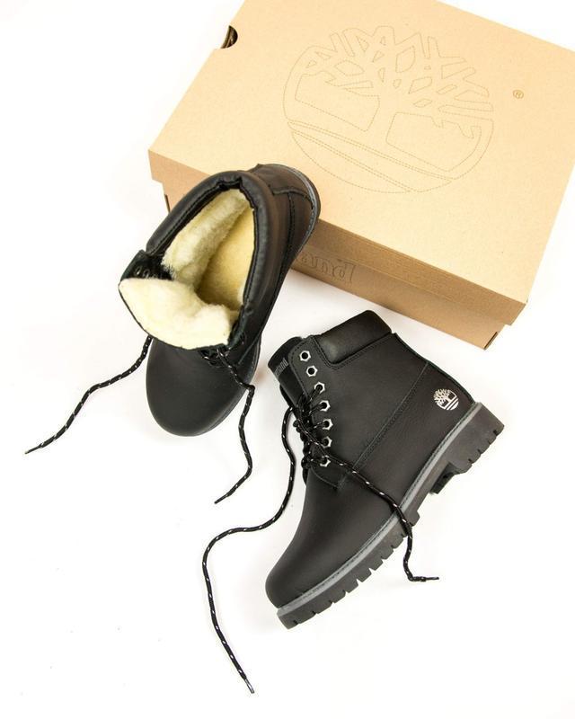 Шикарные женские ботинки timberland black с мехом зимние 😃 (зима)