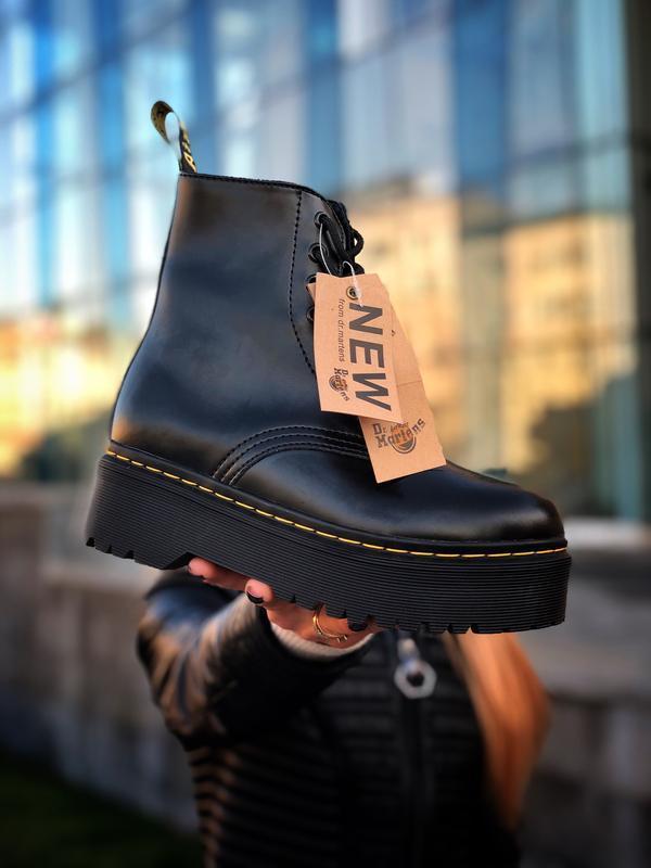 Шикарные женские ботинки dr. martens jadon black чёрные😃 (осен...
