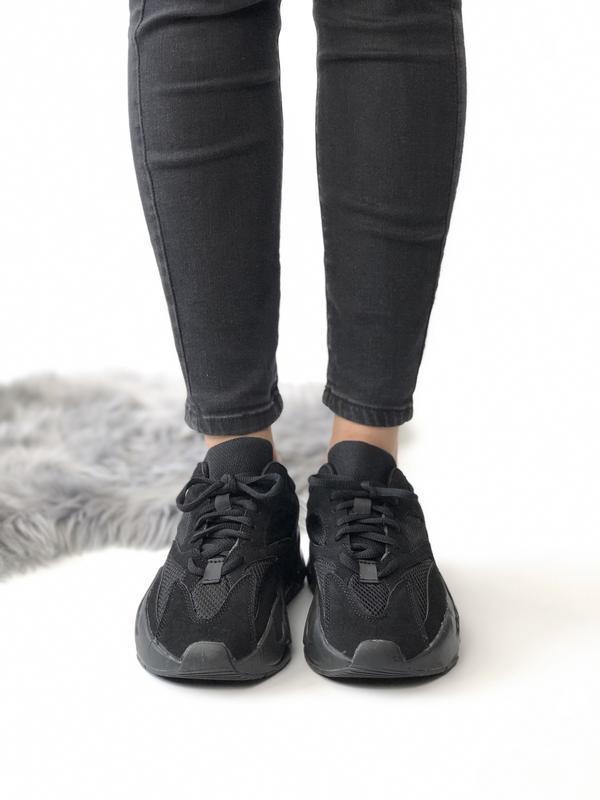 Шикарные мужские кроссовки adidas yeezy boost 700 black 😃 (вес...