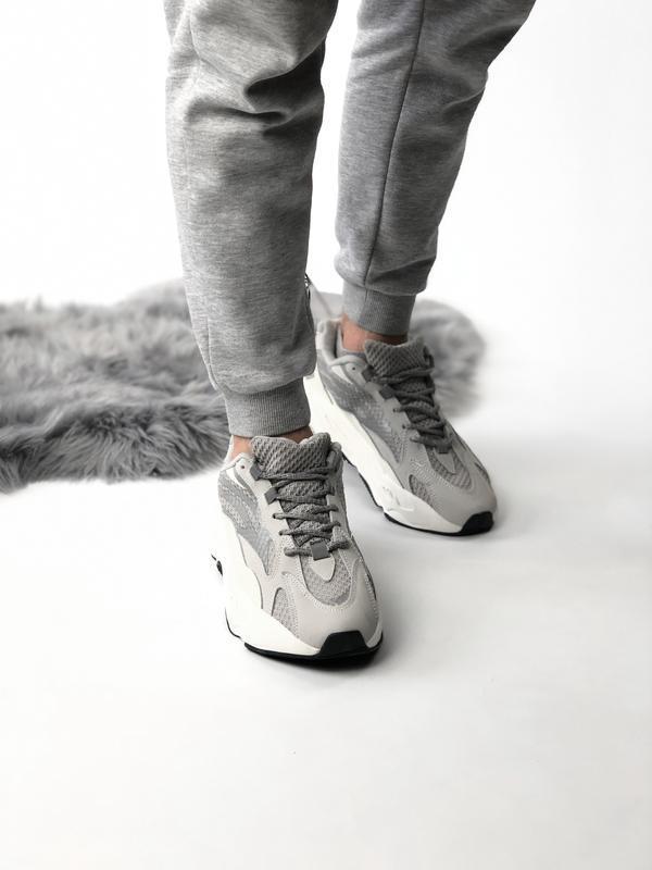 Шикарные женские кроссовки adidas yeezy boost 700 static 😃 (ве...