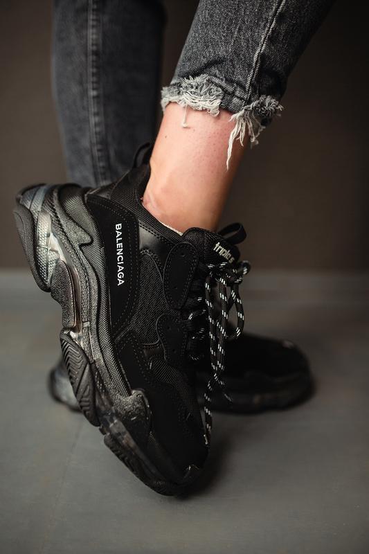 Шикарные женские кроссовки balenciaga triple s black 😃 (весна ...