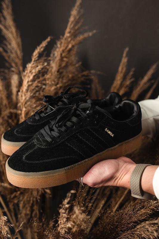 Шикарные женские кроссовки adidas samba black 😃 (весна лето ос...