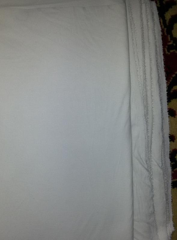 Ткань - трикотаж черный и белый - Фото 2