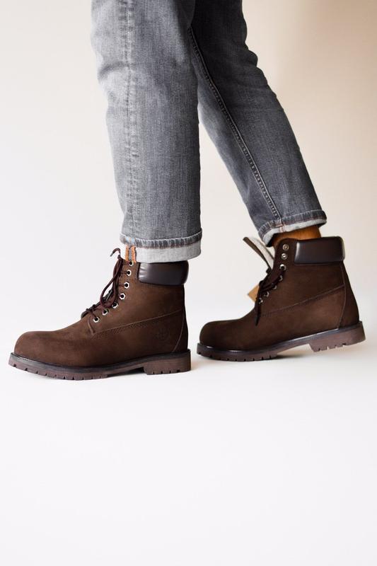 Шикарные мужские ботинки timberland brown с мехом зимние😃 (вес...