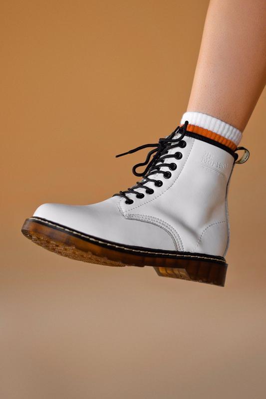 Шикарные женские ботинки dr. martens 1460 white 😃 (осень евро-...