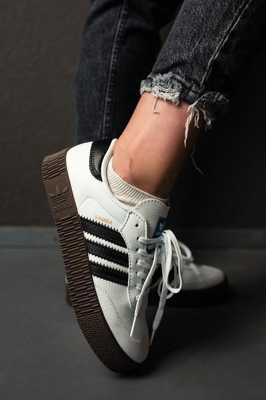 Шикарные женские кроссовки adidas samba rose w white белые😃 (в...