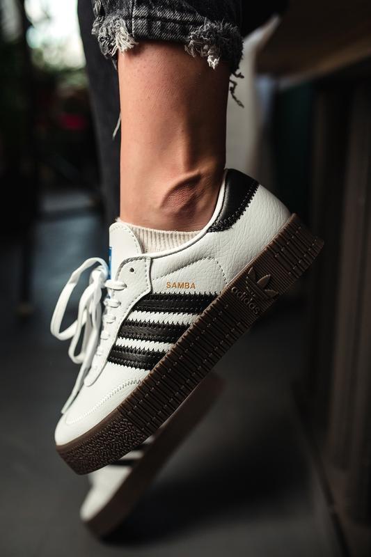 Шикарные женские кроссовки adidas samba rose w white белые😃 (в... - Фото 2