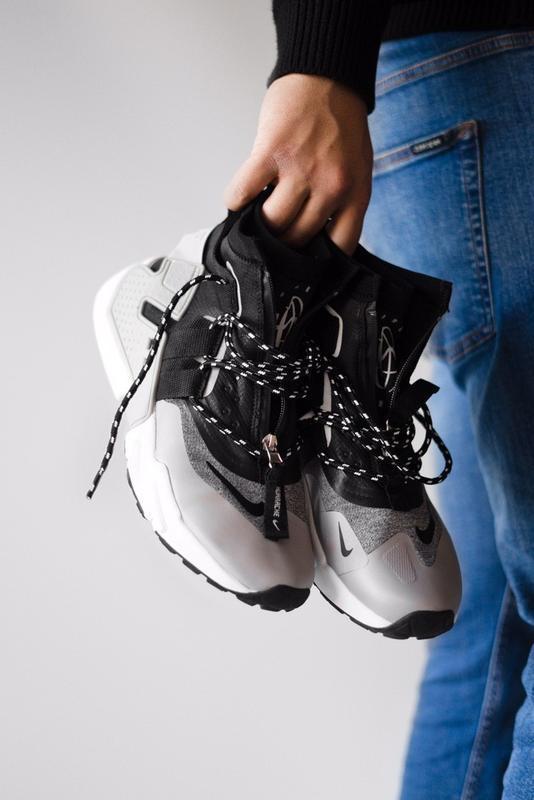 Шикарные мужские кроссовки nike huarache gripp triple black gr...