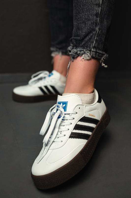 Шикарные женские кроссовки adidas samba rose w white белые😃 (в... - Фото 5