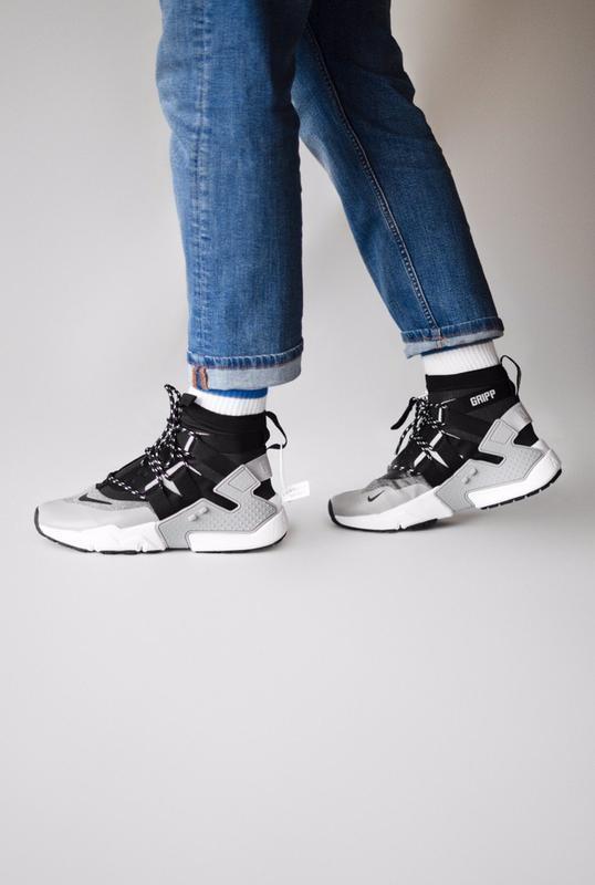 Шикарные мужские кроссовки nike huarache gripp triple black gr... - Фото 3