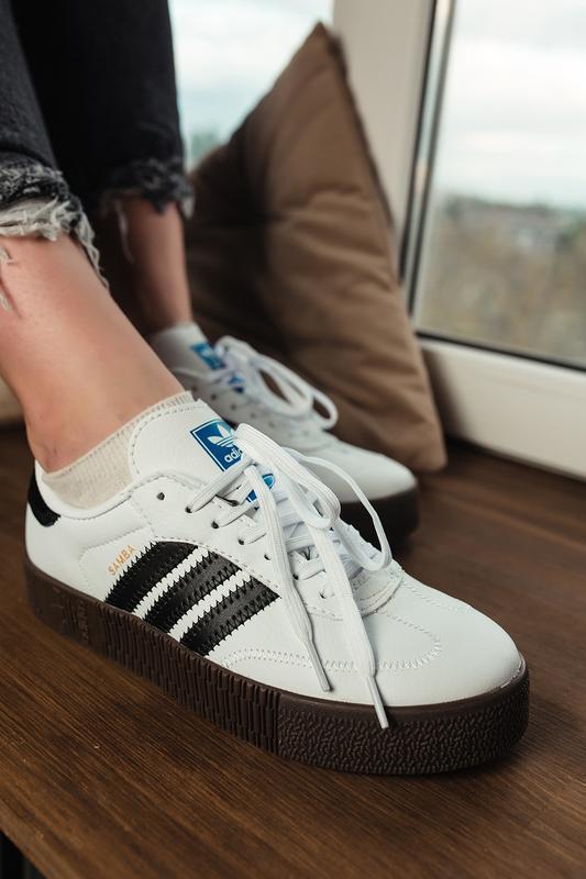 Шикарные женские кроссовки adidas samba rose w white белые😃 (в... - Фото 6