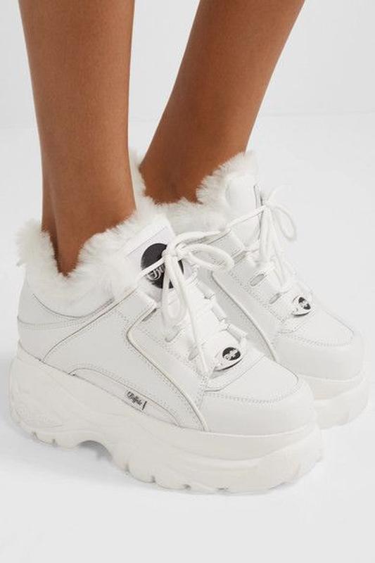 Шикарные женские кроссовки buffalo london white белые с мехом ... - Фото 3