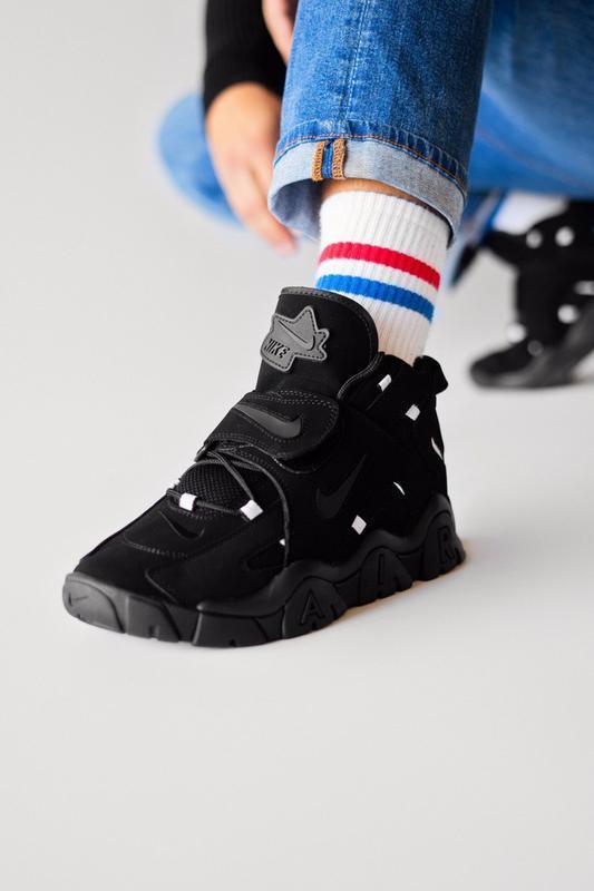 Шикарные женские кроссовки nike air hight black чёрные😃 (весна... - Фото 2
