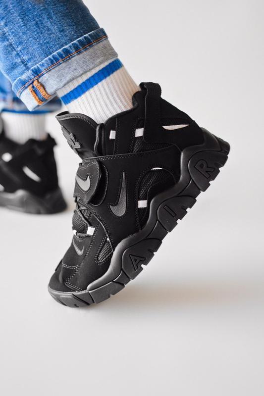 Шикарные женские кроссовки nike air hight black чёрные😃 (весна... - Фото 3