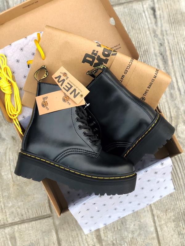 Шикарные женские ботинки dr. martens jadon высокие чёрные 😃 (о...
