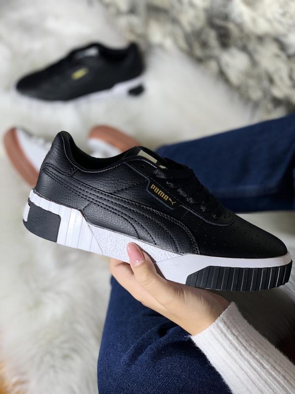 Шикарные женские кроссовки puma cali black демисезонные 😃 {вес...