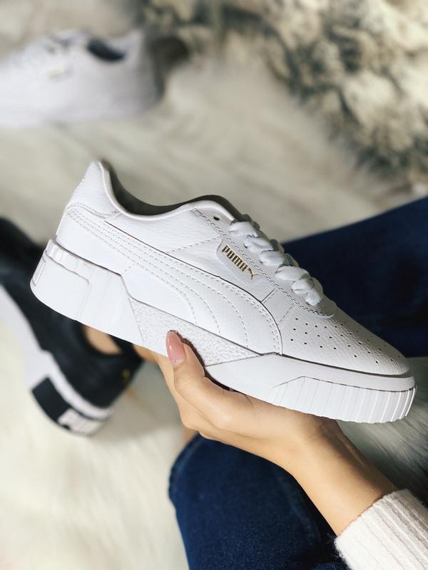 Шикарные женские кроссовки puma cali белые демисезонные 😃 {вес...