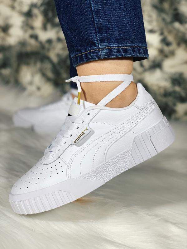 Шикарные женские кроссовки puma cali белые демисезонные 😃 {вес... - Фото 2