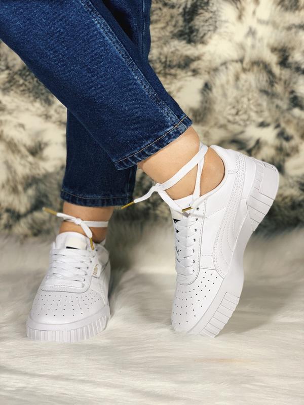 Шикарные женские кроссовки puma cali белые демисезонные 😃 {вес... - Фото 3