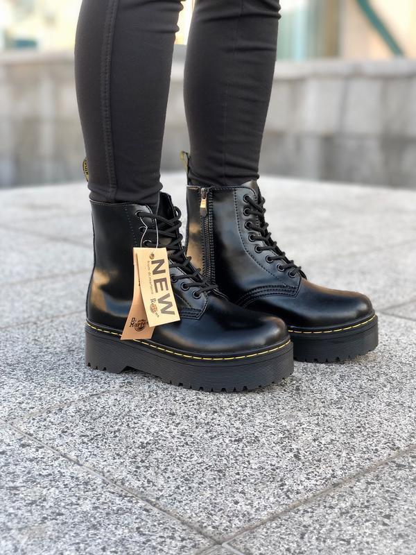 Шикарные женские ботинки dr. martens jadon black на платформе ... - Фото 2