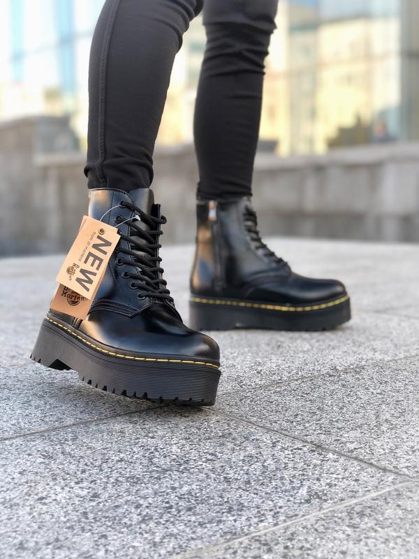 Шикарные женские ботинки dr. martens jadon black на платформе ... - Фото 3