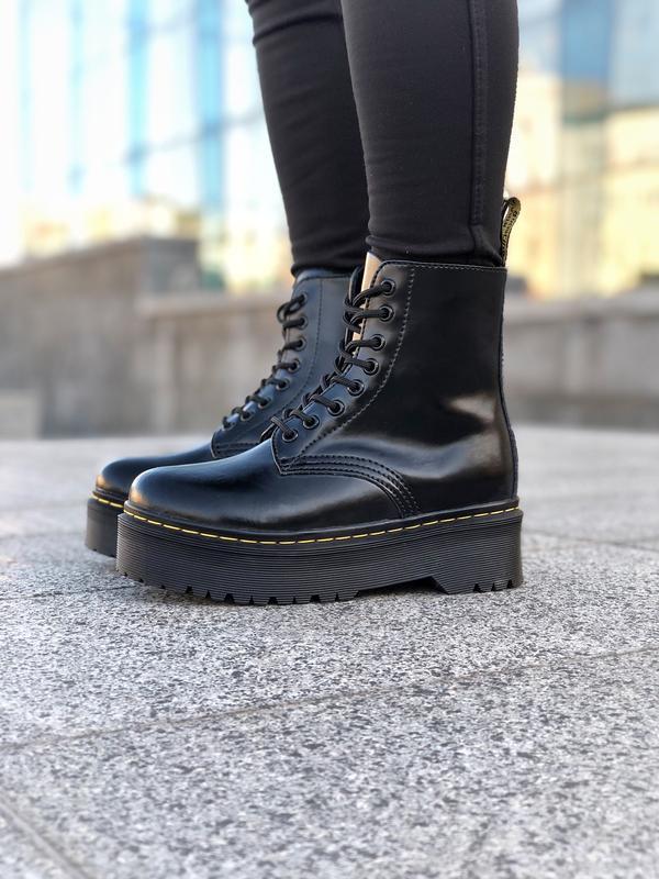 Шикарные женские ботинки dr. martens jadon black на платформе ... - Фото 4