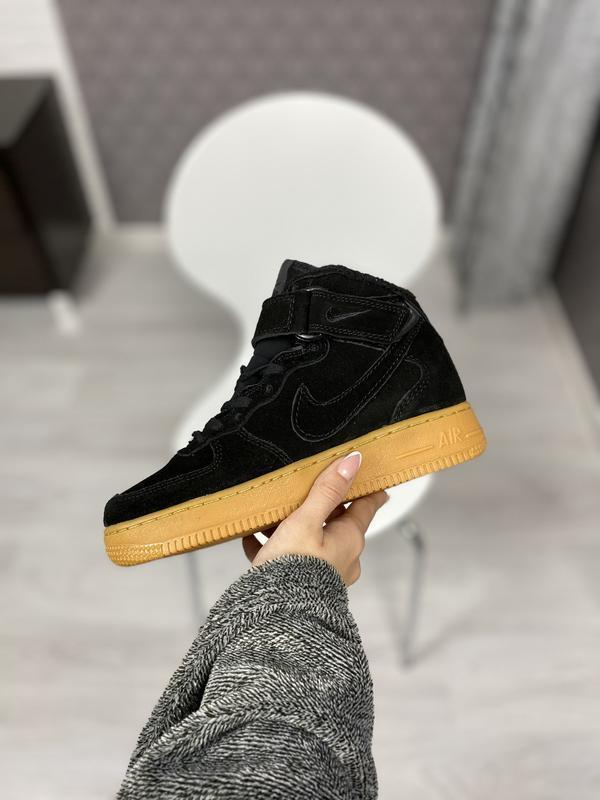 Nike air force 1 high шикарные мужские кроссовки с мехом зимни...