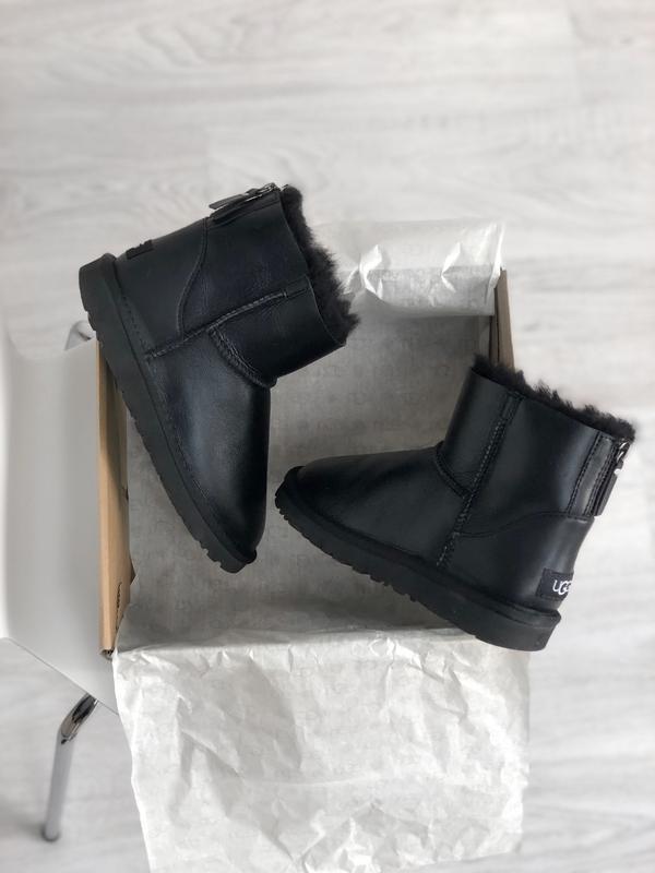 Ugg classic ii mini black шикарные женские сапоги угги на меху...