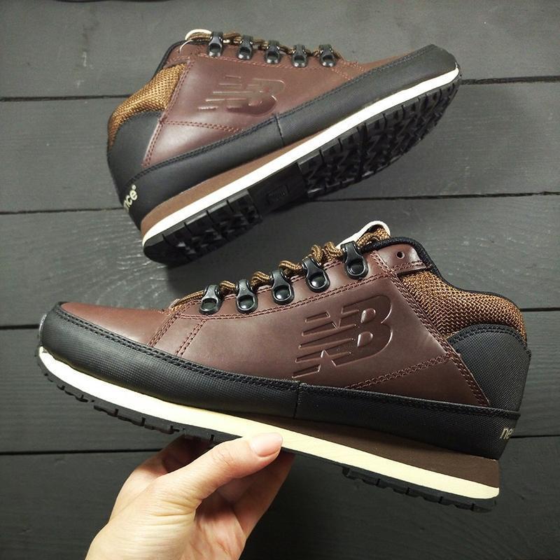 New balance 574 brown осенние шикарные мужские ботинки осень-з...