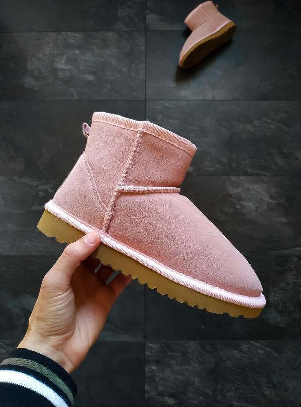 Ugg classic ii mini pink розовые шикарные женские сапоги угги ...
