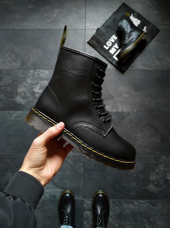 Dr. martens 1460 black чёрные шикарные женские ботинки без меха