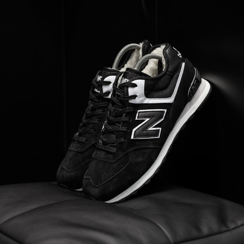 New balance 574 black winter кроссовки с мехом мужские теплые ...